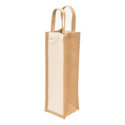 Picture of Eco Jute 1 Bottle Wine Bag