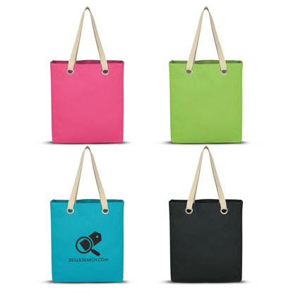 Picture of Vibrant Cotton Canvas Tote Bag