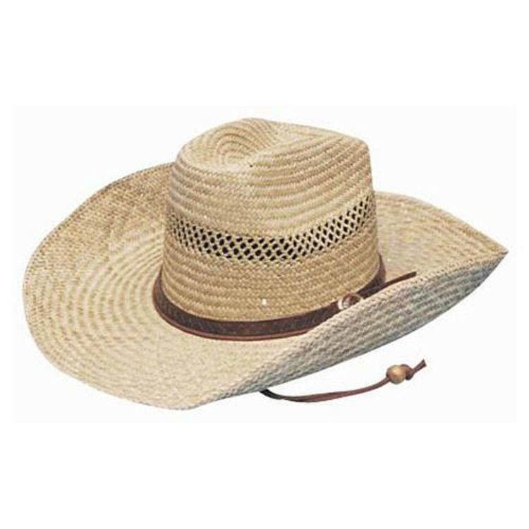 Picture of Cowboy Straw With Leather Band