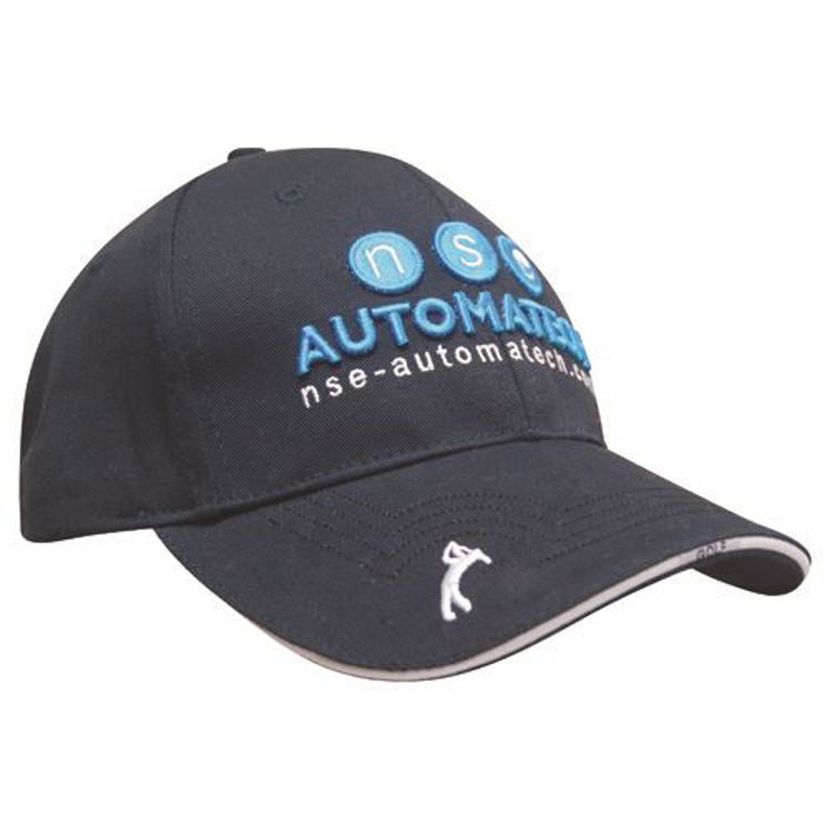 Picture of Custom Promotional Golf Cap - 6 Panel Chino Twill