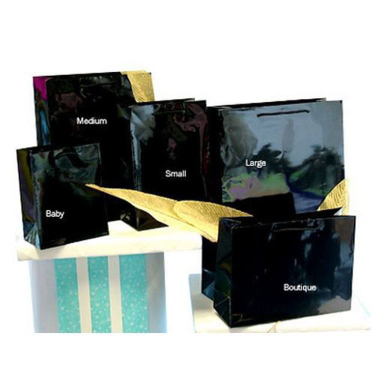 Picture of Plain Laminated Paper Bags with Rope Handle - Large Btq