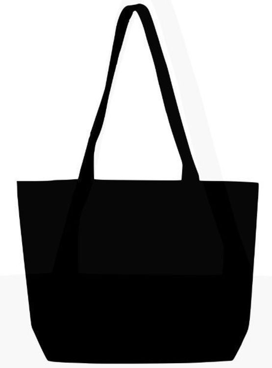 Picture of TB 0139 HC - BK (Black Heavy-weight Canvas Market Bag)