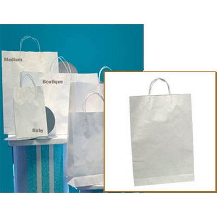 Picture of White Kraft - Paper Loop Handles- Medium