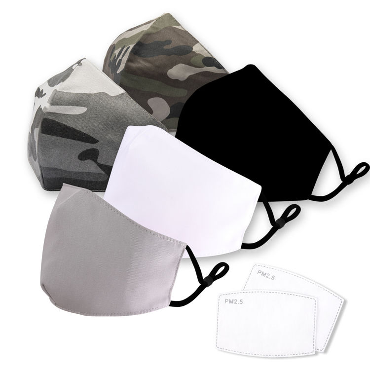 Picture of Reusable Face Mask With Filter (Pack of 20)