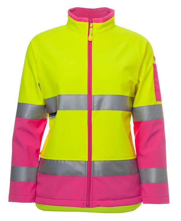 Picture of JB's LADIES HV (D+N) SOFTSHELL JACKET
