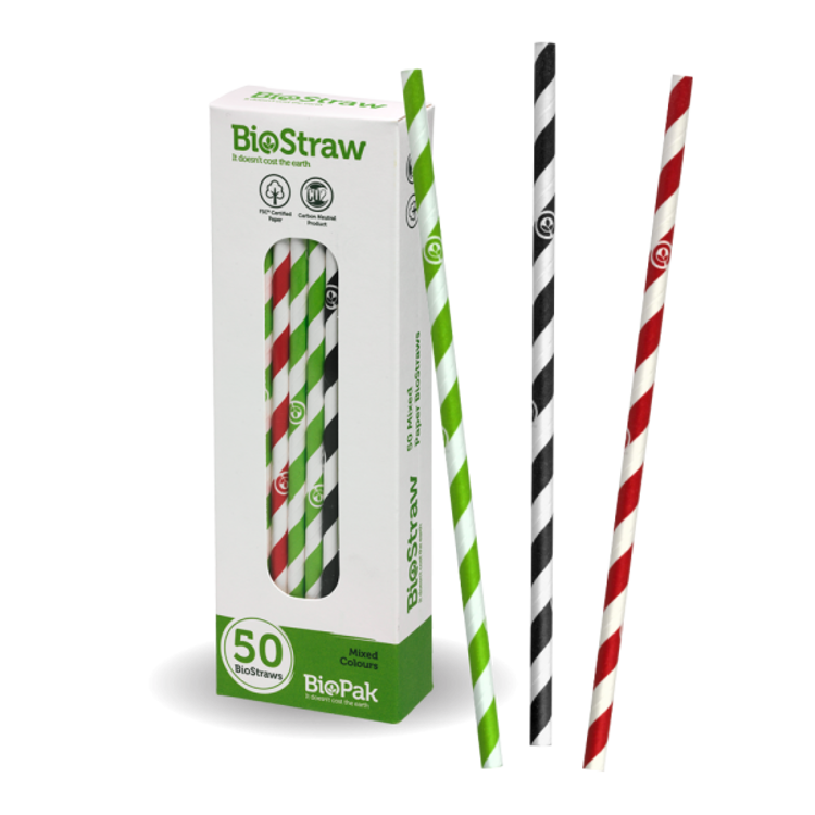 Picture of Mixed regular straws - 50pk - mixed