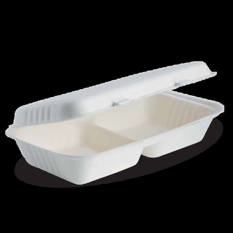 Picture of BioPak BioCane Clamshells - White