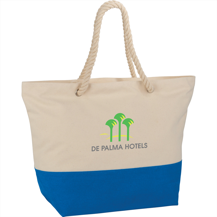 Picture of Zippered 12oz Cotton Canvas Rope Tote